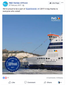 2017-Superbrands-facebook-Mention-PO-Ferries